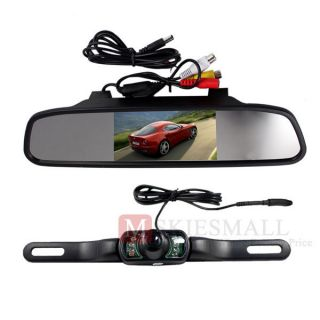 LCD Rearview Mirror Monitor & Wireless Night Vision Auto View Camera