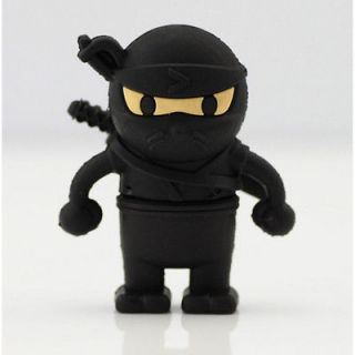 Rubber Warrior Shape 8GB USB Flash Memory Pen Drive Thumb Stick Black