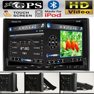 In Dash Double Din Car DVD Player GPS Navigation IPOD