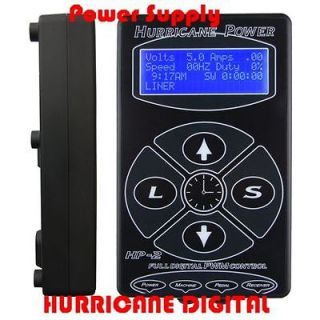 POWER SUPPLY Black DUAL HURRICANE DIGITAL TATTOO MACHINE kit machine