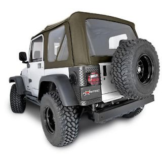 97 06 Jeep Wrangler Replacement Soft Top with Tinted Windows, Black