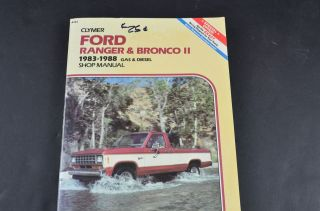 Clymer Ford Ranger & Bronco II Shop Manual 1983   1988 Gas & Diesel
