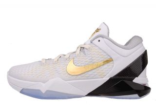 Nike Zoom Kobe VII 7 Elite Home System White Metallic Gold Black