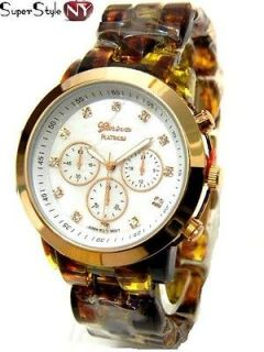 Sell Acrylic Band Gold Celebrity Fashion Animal Style Oversized Watch