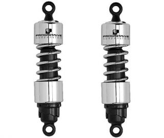 Progressive 412 Series Cruiser Shocks 12 Chrome 2002 2008 Honda