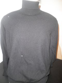 BRIONI MENS CASHMERE BLACK TURTLENECK SWEATER SIZE S MADE IN ITALY