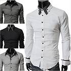 S754 New Mens Luxury Stylish Casual Dress Slim Fit Shirts 3 Colours 4