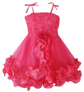 Girls Dress Rose Flower Pary Wedding Sundress Kids Clothes Size 5 10