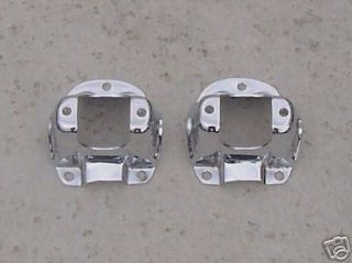 1965 66 Ford Mustang Chrome Shock Tower Caps NEW Pair