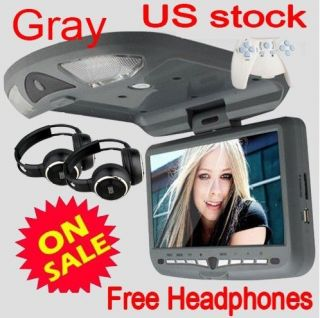 Auto 9 Roof Mount Car Overhead Radio Stereo DVD Player+Sony Lens