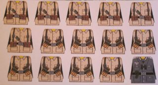 Custom Lego German Afrika Korps Soldier WWII Decals