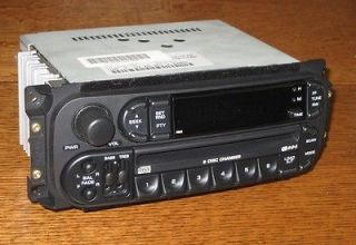 DODGE RAM 1500 2500 3500 6 CD CHANGER RADIO STEREO RBQ RDS ~ WARRANTY