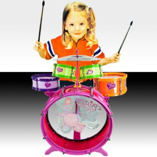 Boy Kids Drum Set Kit Toy Children Musical Band Instrument Playset