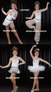 Teachers STAND OUT Mix & Match WHITE CHRISTMAS Dance Costume OPTION