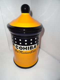 Nice COHIBA Genuine leather Travel Cigar Tube Jar Humidor Hygrometer