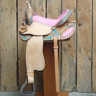 OS182 HILASON WESTERN BARREL RACING TRAIL PLEASURE SADDLE 15