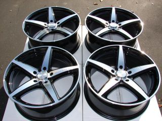 17 5x108 5x110 Black Wheels Ford Focus Pontiac G5 G6 Cobalt V70 Xc70