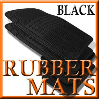 Cadillac CTS ALL WEATHER BLACK RUBBER FLOOR MATS (Fits Cadillac CTS)