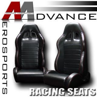 Racing Bucket Seats+Sliders Pair 11 (Fits 2004 Ford Expedition