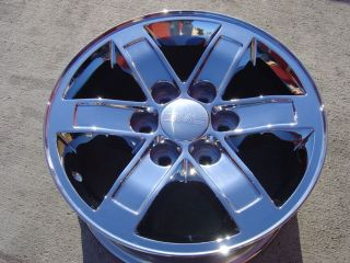 CHROME WHEELS 17 OEM GMC SIERRA YUKON DENALI XL CHEVY SILVERADO