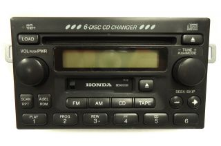 HONDA Accord Civic CRV Odyssey 6 Disc Changer CD Player Radio EX LX