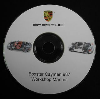 Porsche Boxster Cayman 987 2005 2006 2007 2008+ Workshop Repair