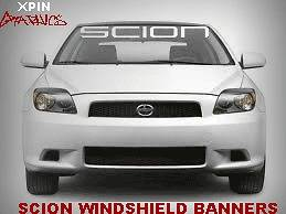 SCION Windshield Window Banner Decal Vinyl Sticker Race Toyota TRD XB