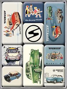 Trabant set of 9 mini fridge magnets (na) from England