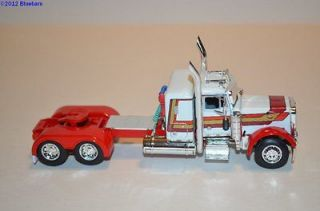DCP White with Stripes379 36 Sleeper Semi Truck Tractor 1/64
