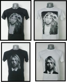 NIRVANA KURT COBAIN ROCK T  SHIRT BLACK SIZE Large