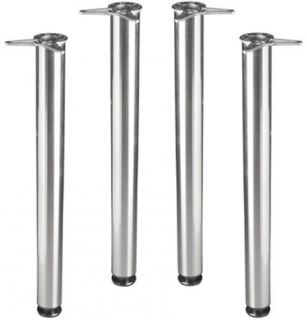 Chrome Metal Kitchen Table Legs Adjustable Office Desk 50005 4