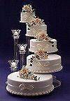 TIER WEDDING CAKE STAND STANDS / 3 TIER CANDLE STAND