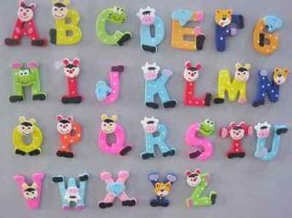 Wooden Letter Alphabet fridge Magnet Educational Toy Baby Gift  Z12