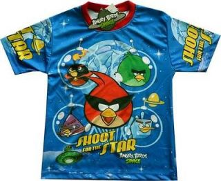 SPACE SHOOT FOR THE STAR Kids Cloth Boys Tee Shirt Sz.4 Age2 3 #A034