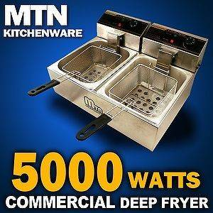New MTN 5000W Commercial Countertop Restaurant Electric Deep Fryer