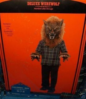 Halloween Costume Scary Deluxe Gnarling Werewolf 10 12