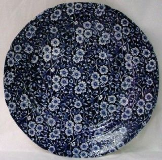 STAFFORDSHIRE china CALICO BLUE Crownford china DINNER PLATE