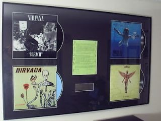 NIRVANA Signed Fan Club News Letter Kurt Cobain Dave Grohl w/ Vinyl