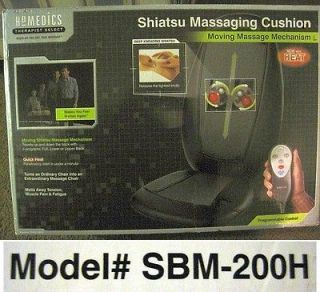 Therapist Select Shiatsu Massaging Cushion W/Heat SBM 200​H Warranty