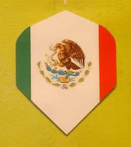 Dart Flights Mexico Mexican Flag   1 Set +2 Bonus Sets