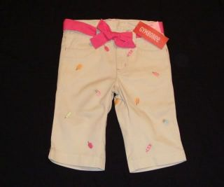 NWT Gymboree POPSICLE PARTY Khaki Clamdigger Pants Shorts Capris 5 5T