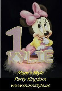 Baby Minnie Mouse Birthday Party Cake topper w #