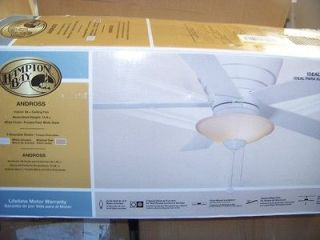 Hampton Bay Andross 48 inch Low Profile Hugger Ceiling Fan with Light