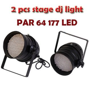 2x DJ Stage Lights PAR 64 DMX RGB 177 LED Sound active Lighting Home