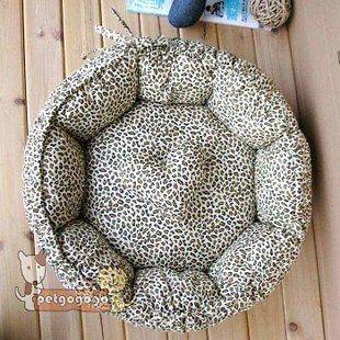 soft pet dog/cat bed house kennel cotton mat S cute LEOPARD LINE 2 USE