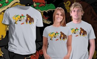 Mario Donkey Kong as King Kong VS. Bowser as T Rex Dino Teefury Men