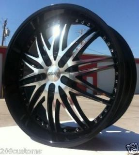 22 INCH BLACK 22 FWD WHEELS TIRES & RIMS CADILLAC SEVILLE DEVILLE STS