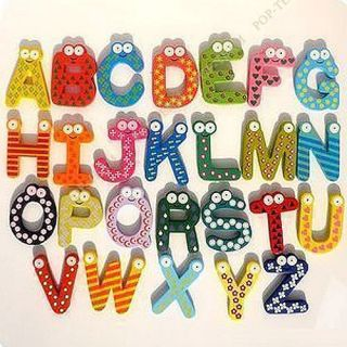 Magnet 26 Letter Alphabet Number Educational Toy Baby 3 Style JZ9M