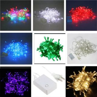 Color 32.8FT 100 Led String Fairy Light Christmas Tree Wedding Party