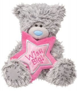 Me to You TATTY TEDDY Birthday Bear w Pink Satin Star 6 Sitting by